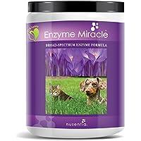 Nusentia Las enzimas digestivas para Perros - Enzima Milagro - 364 Porciones - Apoya la Digestión Completa y la Función pancreática