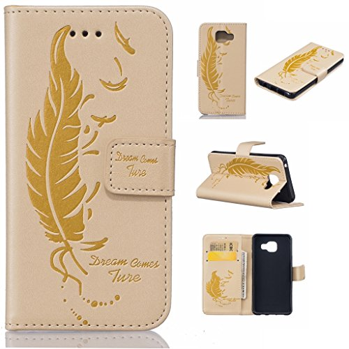 Uming® Il modello della stampa della custodia per armi variopinta della copertura Holster Cover Case ( Dual Pressure feather birds ( Rose 2) - per IPhone 5S 5 5G SE IPhone5S IPhoneSE ) Flip-artificial Dual Pressure feather birds ( yellow)