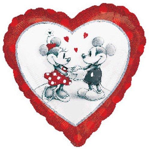 2804001Disney Mickey und Minnie Liebe holographischen Standard Folie Ballon (Mickey Halloween-dekoration)