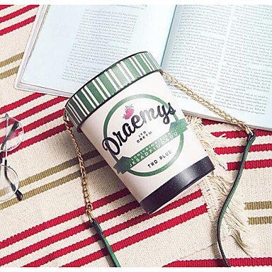 SUNNY KEY-Borsa a tracolla @ Donna Borsa a tracolla PU (Poliuretano) Per tutte le stagioni Casual Rotondi Senza cerniera Verde Nero Rosa , black green