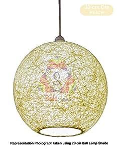 Salebrations 30 cm Dia Peach Hanging Ball Lamp Shade With Yarn And Led Bulb
