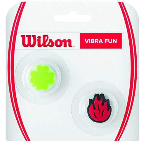 WILSON V Fun, Antivibrazione Fiamma e Portafortuna per Racchetta Unisex - Adulto, Rosso/Verde, 2 Pezzi
