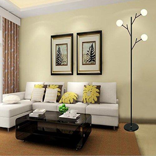 XP Home Stehleuchte, Stehleseleuchte, Kreative Mode Stehleuchte Wohnzimmer Einfache Moderne -Augenbett Lampe Beleuchtung Augenschutz Vertikale Tischlampe - Glas Base Stehleuchte