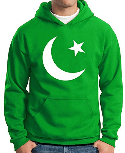 T-Shirtshock - Felpa Hoodie TM0190 flag of Pakistan flag, Taglia S