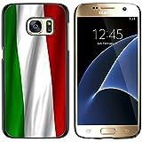 Graphic4You Italia bandera italiana Carcasa Funda Rigida para Samsung Galaxy S7