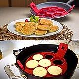 zooarts antiadherente sartén para tortitas con tapa perfecto de desayuno eléctrica huevo tortilla cocina herramientas