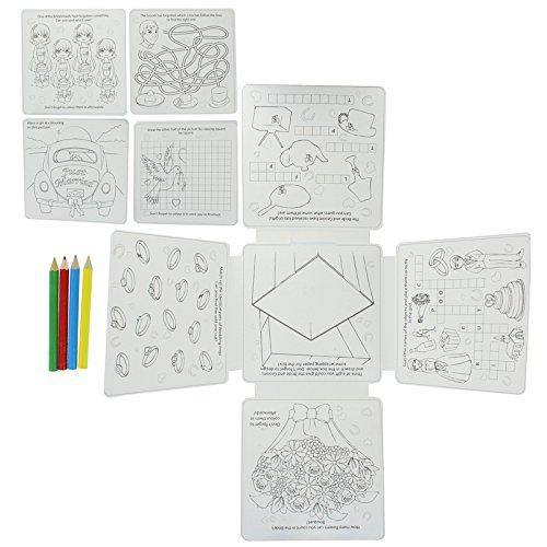 Preisvergleich Produktbild Kinder Hochzeit Aktivitätenpaket - 16 Seiten Silber / Weiß