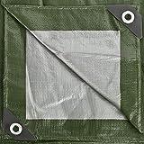 GardenMate 2m x 3m Tarpaulin Waterproof Heavy Duty - Home & Garde Green/Silver Tarp Sheet - Premium Quality Cover Made of 140gramm/Square metre Tarpaulin