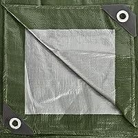 GardenMate 3x4m 140g/m2 Lona de protección prémium verde/plata - Funda protectora - Malla geotextil