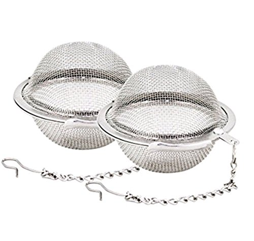 Ruikey Tea Ball 1.6 Inch Stainless Steel Mesh Tea Infuser Strainers Tea Filter Tea Interval Diffuser for Tea Set of 2