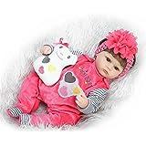 Soft Silicone Soft Realistic Reborn Baby Nurturing Doll 17 Inch Lifelike Girl Newborn Babies Cloth Body Toy Kids Birthday Xmas Gift