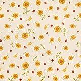 Fabulous Fabrics Halbpanama Leinenoptik Sonnenblume –