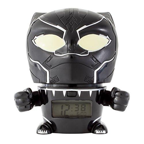 BulbBotz Marvel 2021449 Avengers: Infinity War Black Panther Kinder-Nachtlicht-Wecker mit charakterisiertem Klang