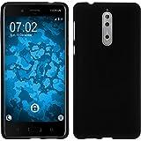 PhoneNatic Case für Nokia 8 Hülle Silikon schwarz matt Cover 8 Tasche Case