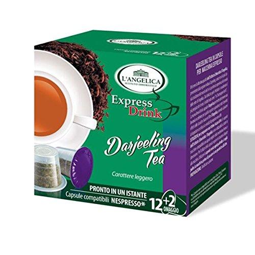 70 Cialde Capsule Compatibili Nespresso The L'Angelica Te' Darjeeling Originali