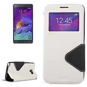 Crazy4Gadget Cross Texture Horizontal Flip Leather Case with Holder & Card Slot for Samsung Galaxy Note 5 / N920(White)