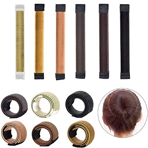 EUYOUZI 6pcs Hair Bun Maker French Twist Magic Hair Fold Wrap Snap DIY Hair Styling Tool for Women Girls Easy Grip Snap
