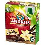 Andros gourdes pomme vanille 4x90g Envoi Rapide Et Soignée ( Prix Par Unité )