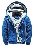Yvelands Herren Kapuzenpullover Strickjacke Winter Warm Fleece Zipper Sweater Jacke Outwear Mantel Tops Blusen (EU-46/M,SkyBlue)