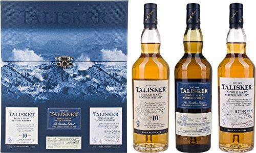 Talisker Gift Set 20cl (Case of 3), includes: Talisker 10 Year Old 20cl / Talisker Distillers Edition 20cl / Talisker 57' North 20cl