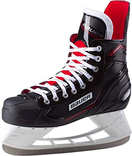 Bauer Herren Complet XPro Skate Feldhockeyschuhe, Schwarz-Weiss-Rot-SI 900, 39 EU