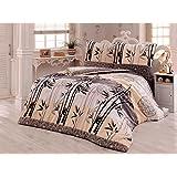 Bettwäsche 200x220 Baumwolle Bettgarnitur mit Reißverschluss 3 teilig L-7939