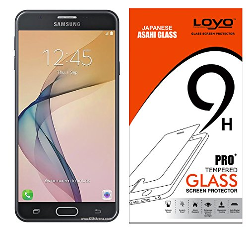 Samsung Galaxy J7 Prime Tempered Glass, Temper Glass, Gorilla Glass, Tempered Glass Screen Guard, LOYO Tempered Glass Screen Protector For Samsung Galaxy J7 Prime 2016 ( HD Premium Pro+ 2.5D Curved 0.3m)