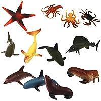 Kunststoff PVC Meeres Tiere Modell Kinder Spielzeug 12 Stück Multi Color preisvergleich bei billige-tabletten.eu