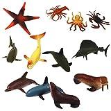 Lot de 12pcs Animaux Marins Modèles en Plastique Jouets pour ...