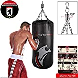 Sportstech Premium Kampfsport Boxsack mit Innovative Fünfpunkte-Stahlkette
