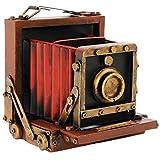 Indhouse - Cámara de fotos vintage decorativa de metal II
