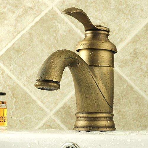 LHbox Die Barocke Komplettes kontinentales Antik Bronze Waschtisch Armatur Wasserhahn Warmes und...