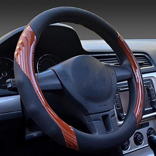 B 2018 Die neue vier Jahreszeiten General Car Lenkrad Abdeckung zu decken ungleichmäßigen Verschleiß rutschfeste Mode, orange, 40cm - Nissan Decke