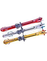Esquí Skier Fijación + palos infantil de esquí plástico 3colores 90cm, Weiß