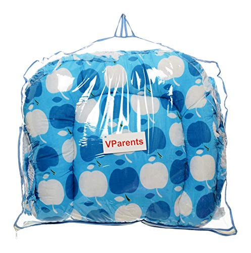 VParents Jumbo Extra Large Baby Bedding Set with Mosquito net and Pillow (0-20 Months) (Blue) Image 7