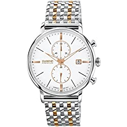Dugena Herren-Armbanduhr FESTA CHRONO Chronograph Quarz Edelstahl beschichtet 7090169