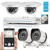 Zmodo 8CH 720P HD Network Home Security Camera System with 2x Outdoor + 2x Indoor Dome Surveillance Camera 500GB Hard Drive by Zmodo