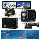 Navline Cámara Deportiva de Acción 4K Videocámara Acuática Sumergible (2' LCD, Full HD 1080P, WiFi, Grand angular de 170°) - Negro