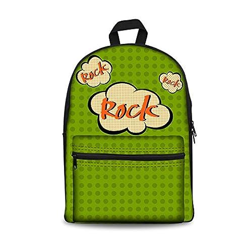 CHAQLIN Cartable, rock (vert) - CHAQLIN