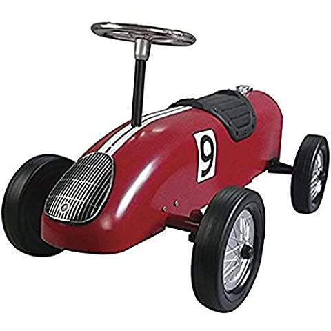 Great Gizmos Red Retro Racer Foot-to-Floor Quad Ride On Toy Car for Kids