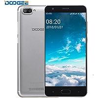 Smartphone Libre, DOOGEE X20 Moviles Libres Baratos, 3G Android 7.0 Telefonos - MT6580 mali-400 - 5.0 Pulgadas HD IPS Pantalla - 16GB ROM - 8MP Cámara - Dual SIM - Batería de 2580mAh (Plata)