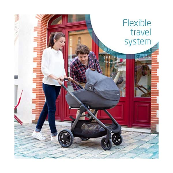 Maxi-Cosi Adorra Baby Pushchair, Comfortable and Lightweight Stroller with Huge Shopping Basket, Suitable from Birth, 0 Months - 3.5 Years, 0-15 kg, Nomad Red Maxi-Cosi Urban stroller, suitable from birth to 15 kg (birth to 3.5 years) Cocooning Seat: The luxury of a large padded seat for the extra comfort of your little one A lightweight stroller less than 12 kg that makes walking effortless 6