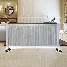 QFFL calentador Pared de pared de cristal de carbono cálido Calentador de infrarrojo lejano Calentador de temperatura caliente y frío de velocidad móvil Tamaño opcional2 colores disponibles Enfriamiento y calefacción ( Color : B , Tamaño : 2500W )