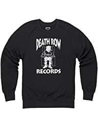 Official Death Row Records Logo White Pull col rond, Pour homme