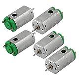 5 Mini Motores Magnéticos de Velocidad Rotatoria de 19300RPM de Corriente Continua de 3V para Juguetes de Proyectos Personales
