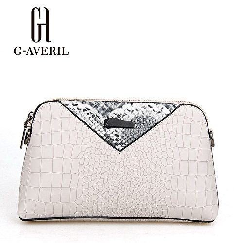 (G-AVERIL) Borsa a Mano Spalla Donna Elegante Pelle Ragazza Grande Borsetta Borsa Tote Shopping Bag Handbag for Women grigio