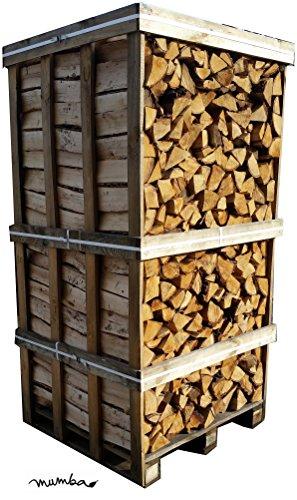 mumba® 900 kg Birkenscheite Brennholz Kaminholz Birke sauber auf der Palette geliefert Kaminholz Scheitholz in 33 cm Länge (Birke, 2RM_BirkePalette)