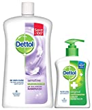 #4: Dettol pH Balanced Liquid Handwash Refill Jar, Sensitive - 900 ml with 200 ml Pump Free
