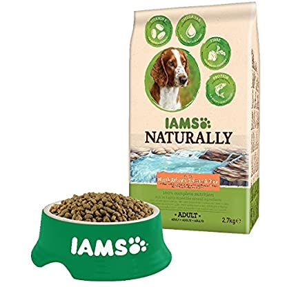 Iams Naturally Dog Food with North Atlantic Salmon and Rice, Complete and Balanced Dog Food with Natural Ingredients 2