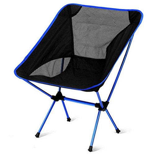 Campingstühle Ultraleichte Und Bequeme Aluminiumlegierung Klappstühle Mesh Atmungsaktives Tuch Outdoor-Angeln Stühle Geeignet Für Rucksack, Wandern, Camping, Strand, Rückenlehne Skizzieren Stuhl , Blau